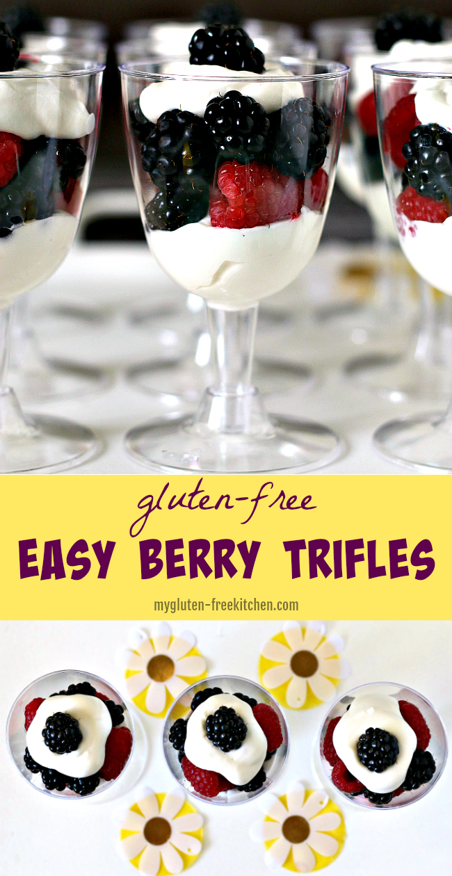 Gluten-free Easy Berry Trifles Recipe