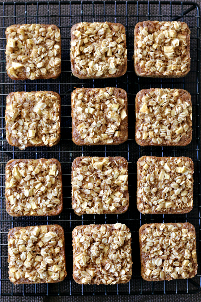 Gluten free Apple Baked Oatmeal Squares