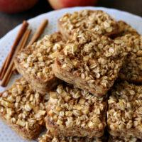 Gluten-free Apple Cinnamon Baked Oatmeal Squares