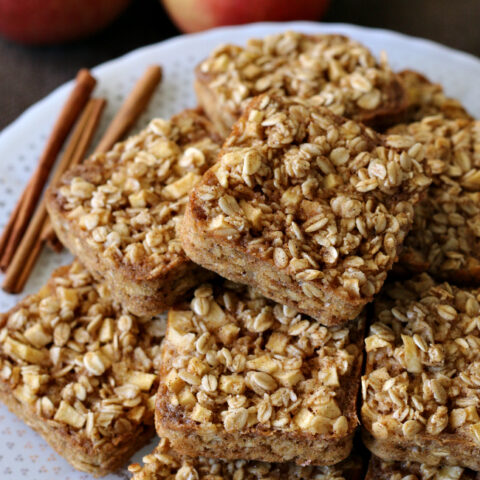 Gluten-free Apple Cinnamon Baked Oatmeal Squares