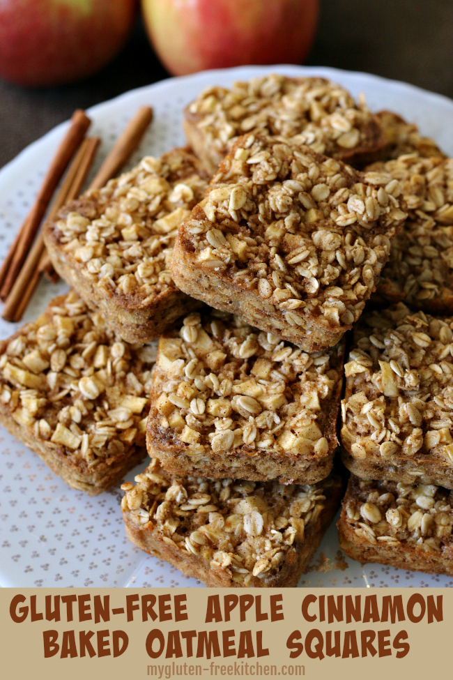 Gluten-free Apple Cinnamon Baked Oatmeal Squares Recipe