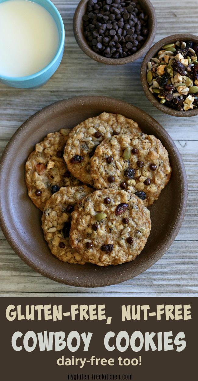 Gluten-free Cowboy Cookies recipe nut-free dairy-free
