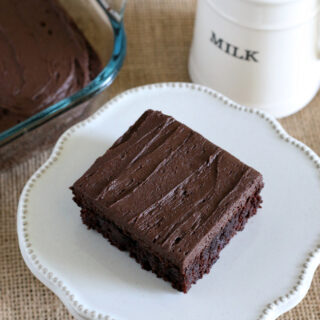 Gluten-free Frosted Brownie Recipe. You'll want a cup of milk with this chocolate treat!