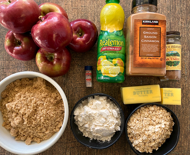 Ingredients for Gluten-free Apple Crisp