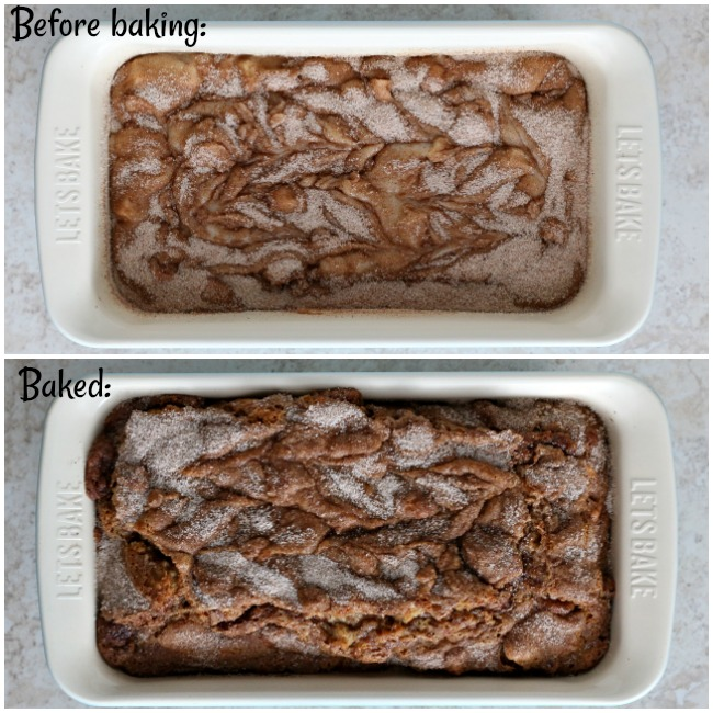 Baking gluten-free apple cinnamon bread