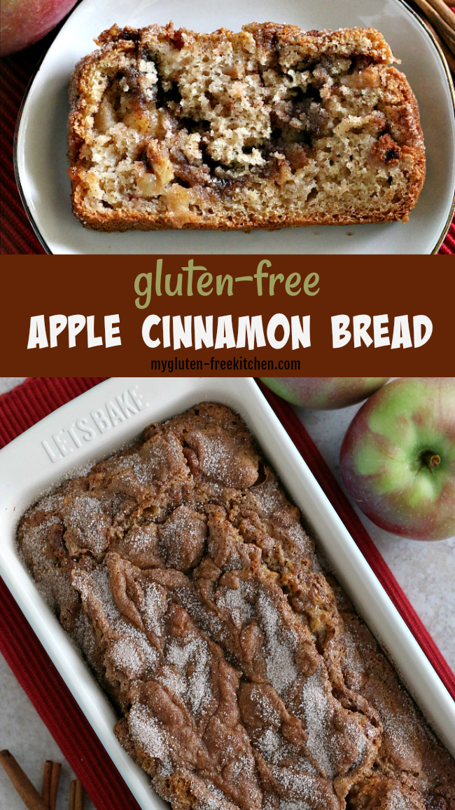 a loaf of gluten-free apple bread