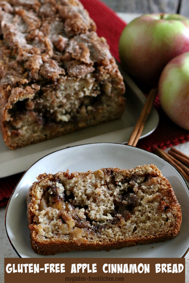 Slice of Gluten-free Apple Cinnamon Bread