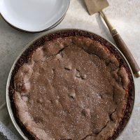 Gluten-free Double Chocolate Fudge Pie