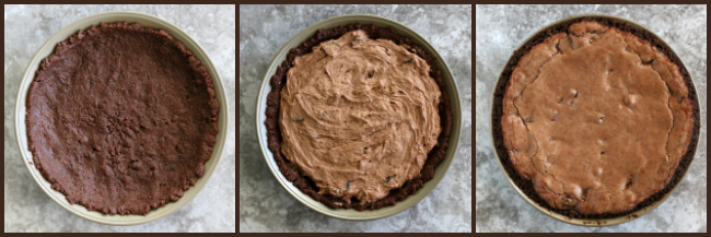 Making gluten-free fudge pie steps