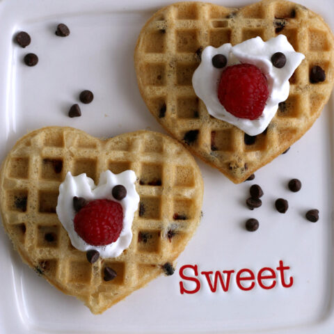 Gluten-free Chocolate Chip Waffles Recipe. They're dairy-free too!