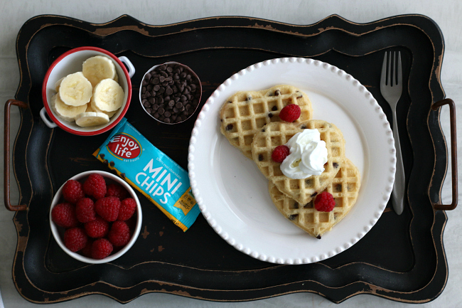 Gluten-free Chocolate Chip Waffles with Enjoy Life mini chips