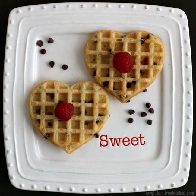 Gluten-free dairy-free chocolate chip waffles