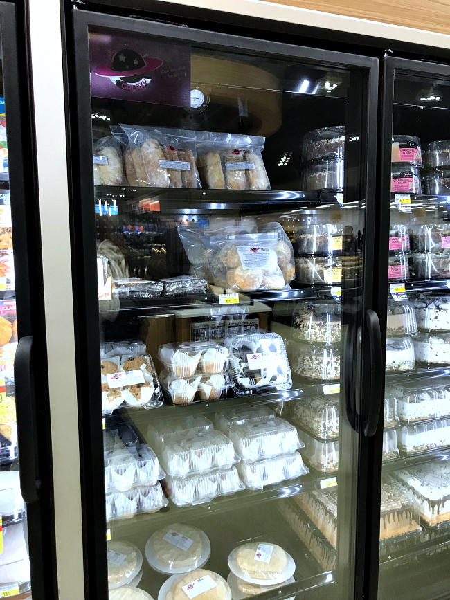 Gluten Free Galaxy Freezer section at Albertsons Market Street