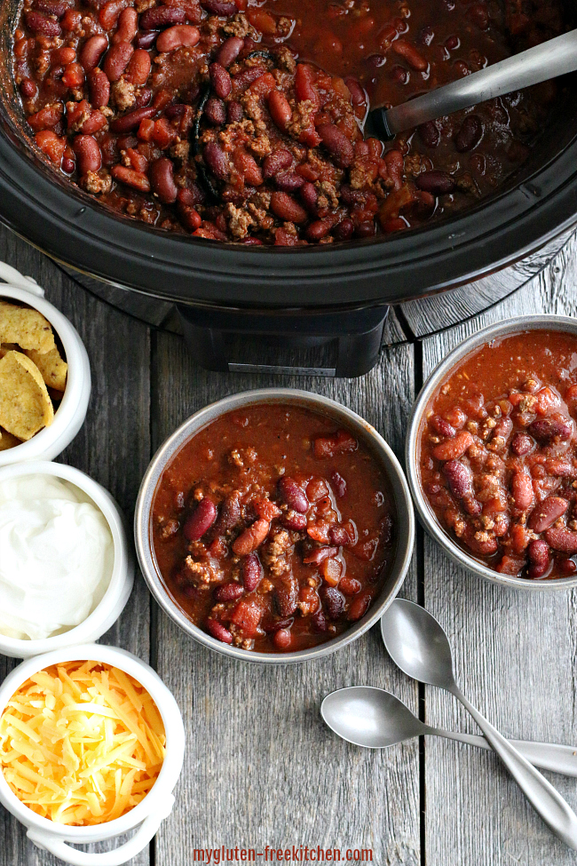 Gluten-free Chili in Crock-Pot