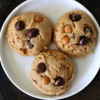 Gluten-free Peanut Butter Butterscotch Chocolate Chip Cookies