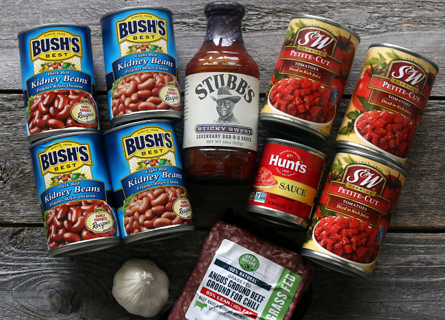 Ingredients for Slow Cooker Gluten-free Chili