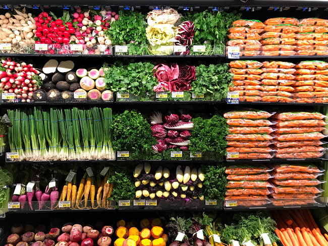 Produce section at Albertsons Market Street
