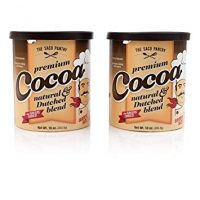SACO Pantry Premium Cocoa, Natural and Dutched Blend, Gluten-Free, Nut-Free, Pack of 2