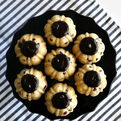 Gluten-free Chocolate Chip Bundt Cakes (dairy-free)