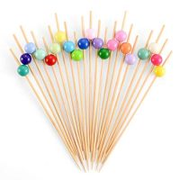 Bamboo Cocktail Skewers 4.7 Inch, Fancy Appetizer Toothpicks