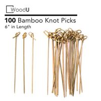 Bamboo Knot Picks 100pc Cocktail Skewers