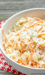 Gluten-free Simple Coleslaw Recipe in bowl