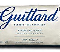 Guittard Vanilla Milk Chips, Choco-au-Lait 12 Ounce (Pack of 12)