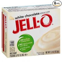 JELL-O White Chocolate Instant Pudding & Pie Filling Mix (3.3 oz Boxes, Pack of 6)