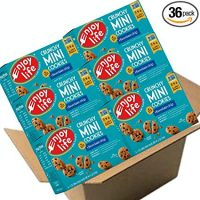 Enjoy Life Crunchy Mini Cookies, Soy free, Nut free, Gluten free, Dairy free, Non GMO, Vegan, Chocolate Chip, 1 Ounce Packs (Pack of 36)