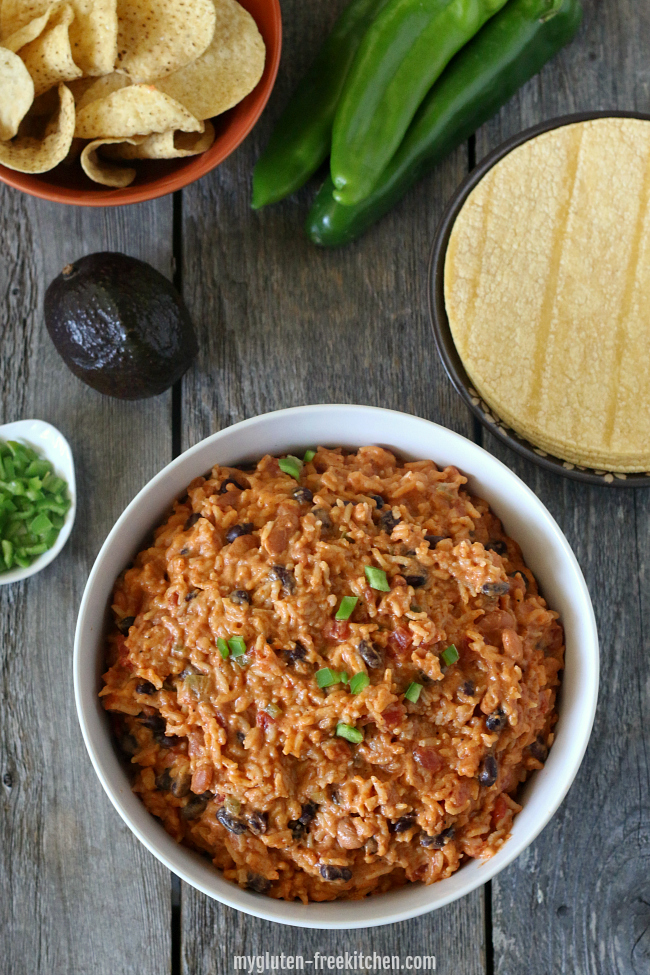Beans and Rice Dip or Burrito Filling made in Instant Pot