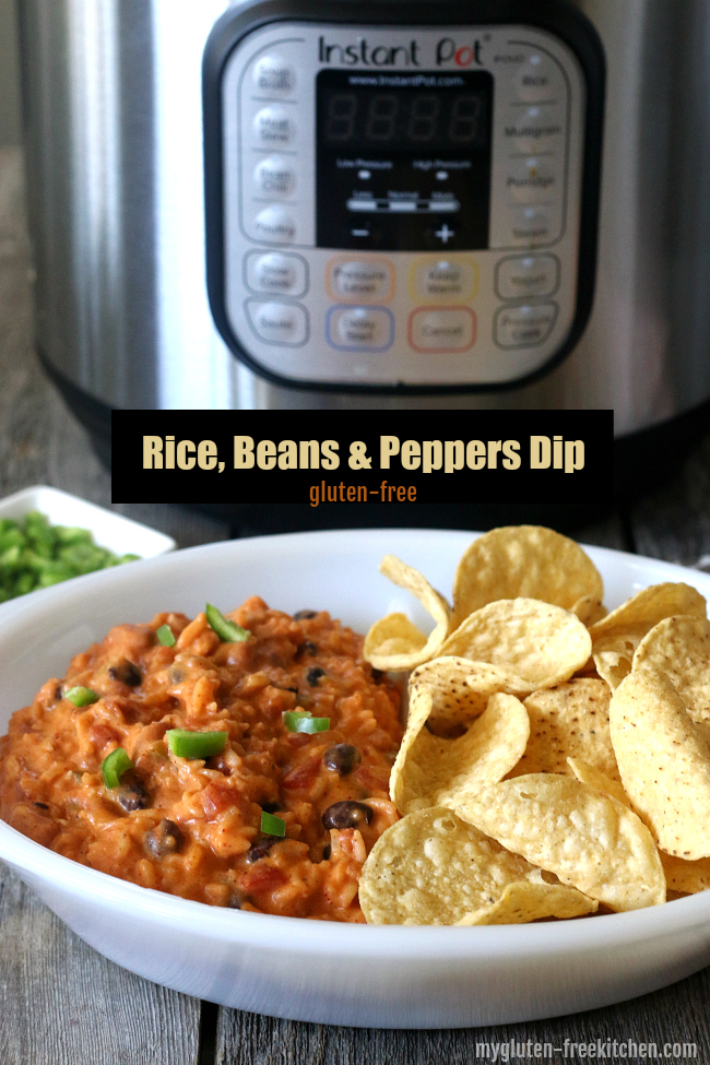 Gluten-free Rice Beans and Peppers Dip made in Instant Pot