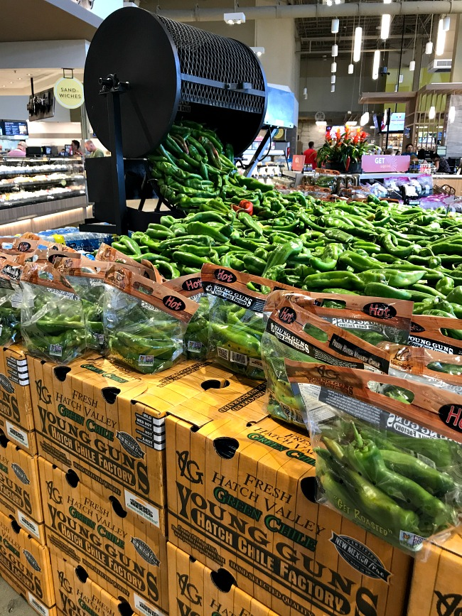 Display of Hatch Chiles at Albertsons Event