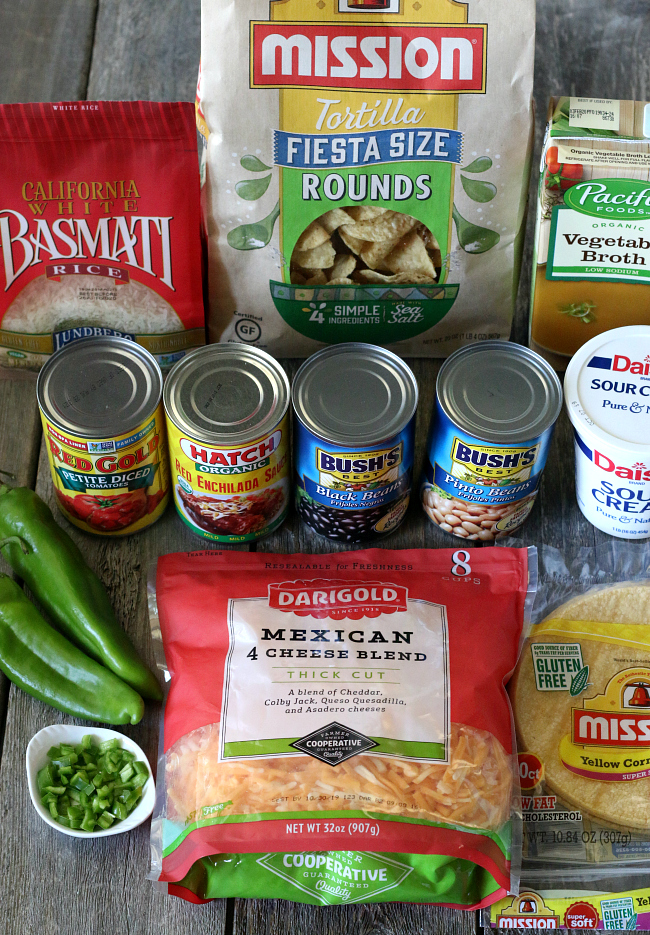 Ingredients for Instant Pot Rice and Beans