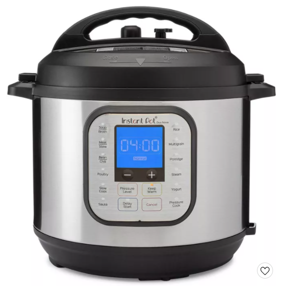 Instant Pot Duo Nova 6 quart 7-in-1 One-Touch Multi-Use Programmable Pressure Cooker at Target