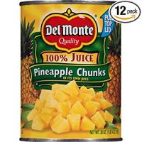 Del Monte Canned Pineapple Chunks in 100% Juice, 20-Ounce (Pack of 12)