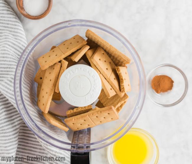 gluten-free graham crackers in food processor