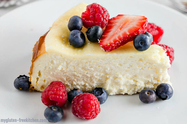 Slice of Classic Gluten-free Cheesecake