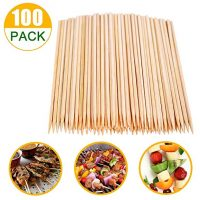 6 inch Natural Bamboo Skewers, Wooden Kebab Skewers  (100pcs)