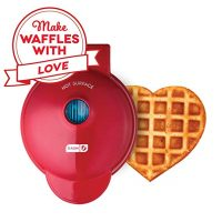 Dash Mini Maker Machine for Heart Shaped Individual Waffles, Red