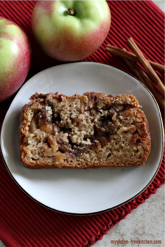 Slice of Gluten-free Apple Bread