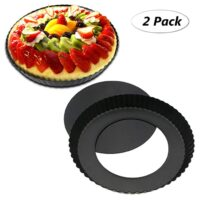TedGem 2 Pack Non-Stick 8.8 Inches Tart Pan