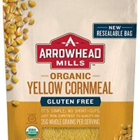 Arrowhead Mills Organic Gluten Free Yellow Corn Meal (Pack of 6)