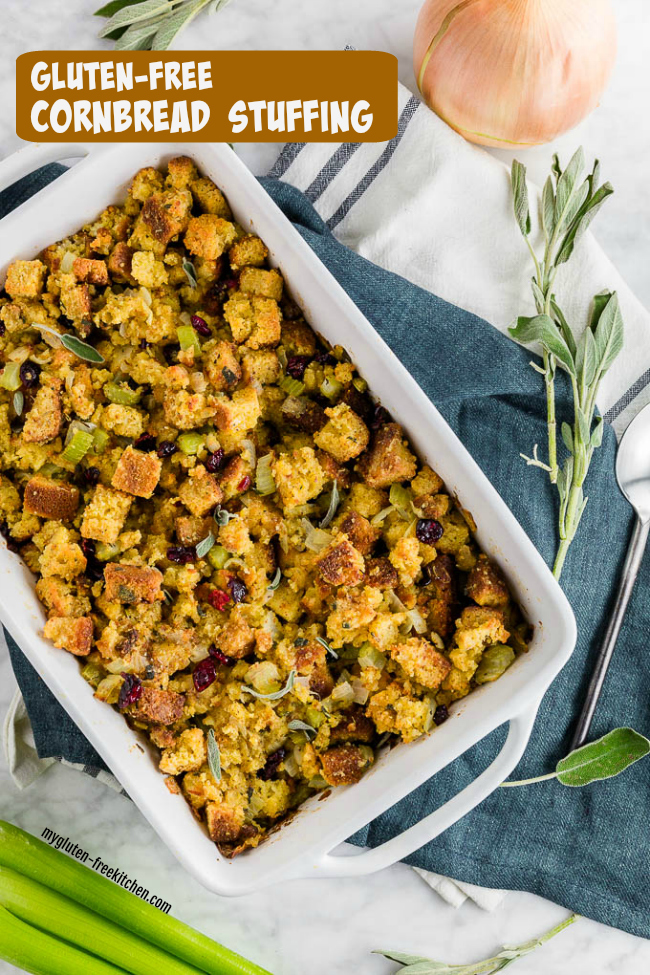 Pan of Gluten-free Stuffing
