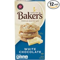 Baker's Premium White Chocolate Baking Bar (4 oz Bars, Pack of 12)