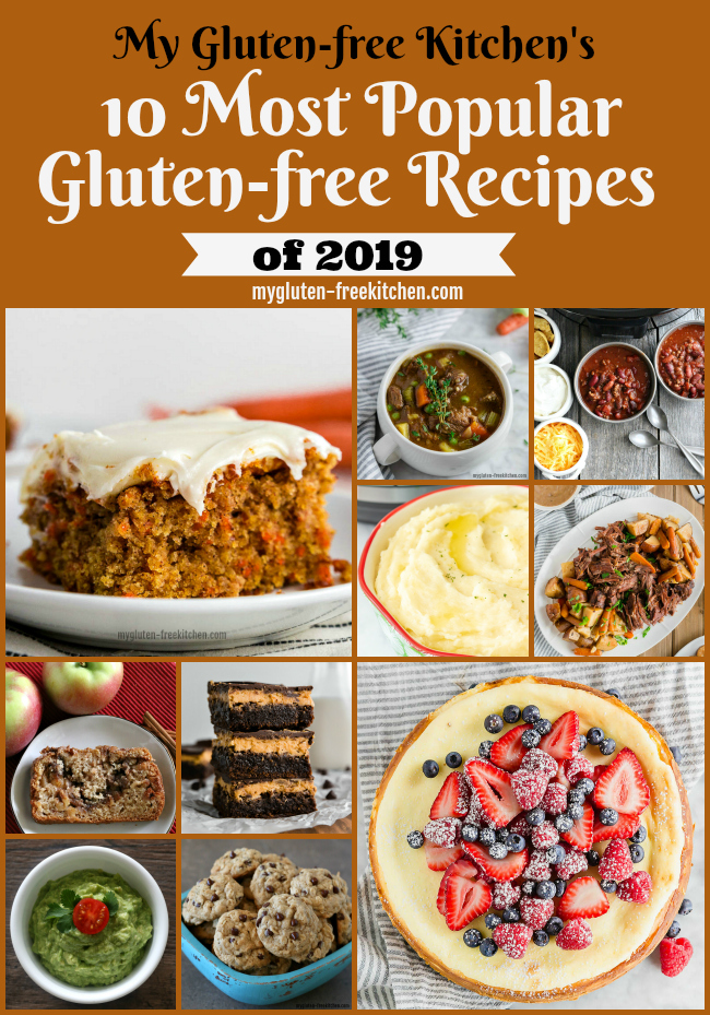 photo collage of top 10 gluten free recipes
