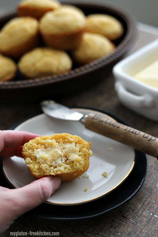 Gluten-free Cornbread Muffin with Butter