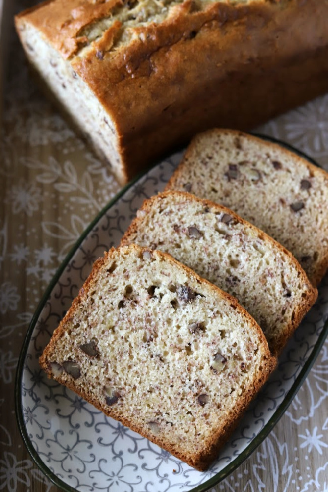 GF Banana Bread with Pecans