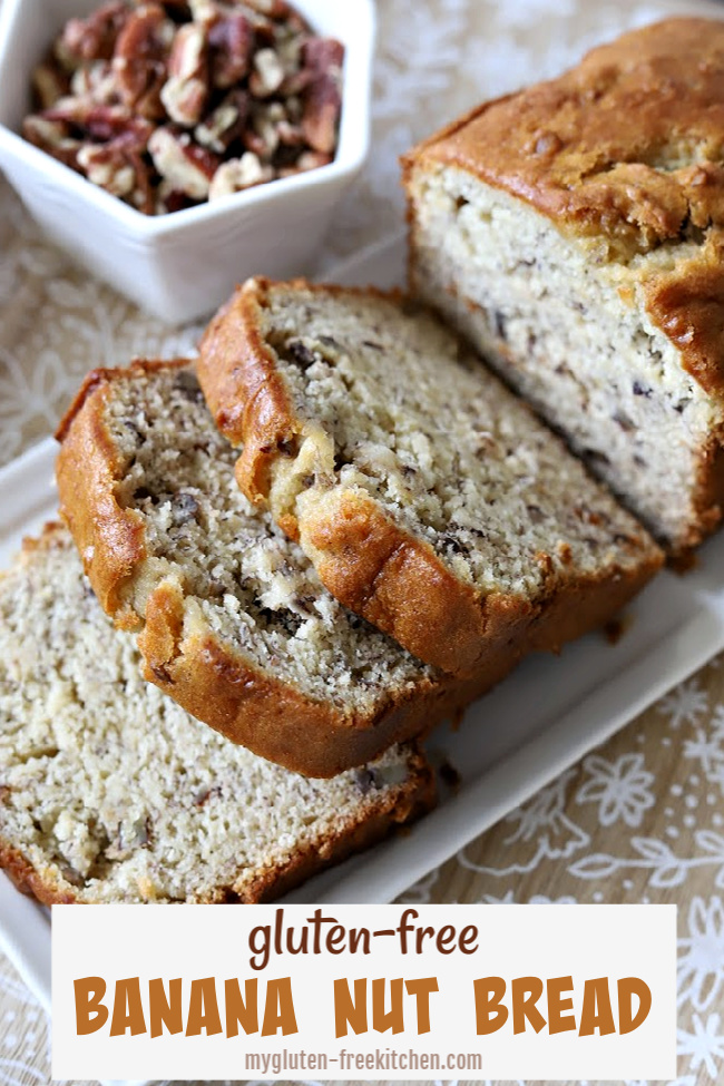 Loaf of Gluten-free Banana Nut Bread