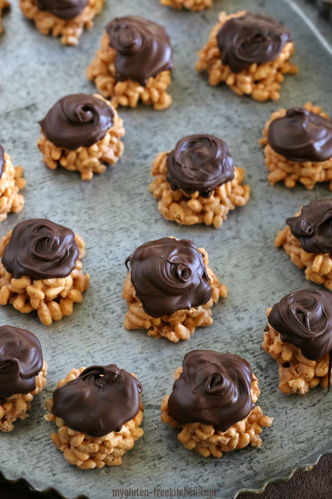 Platter with no bake gluten-free treats